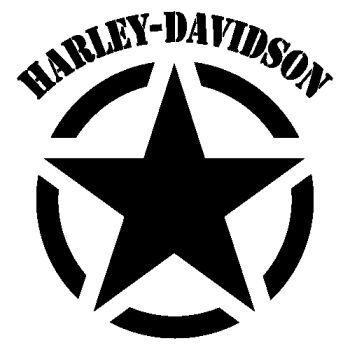 Harley Davidson Army Star Decal Harley Davidson Stickers Harley Davidson Decals Harley Davidson