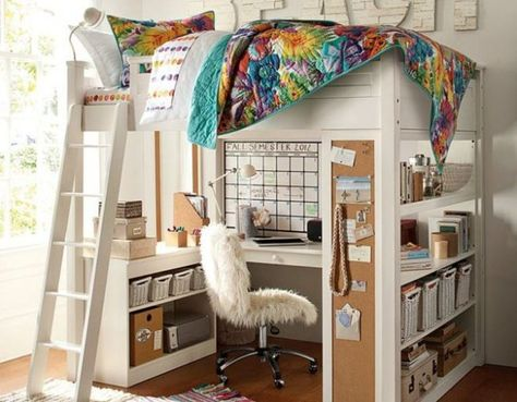 Lifted Up Your Bed To Create Space For Your Study Desk