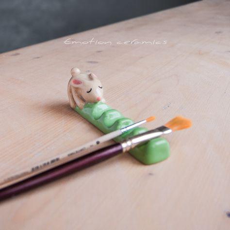 Polymer Clay Crafts, Diy Clay, Polymer Clay Figures, Keramik Design, Ceramic Clay, Ceramic Brush, Clay Art Projects, Arts And Crafts, Diy Crafts