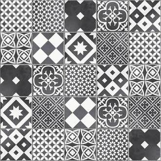 Carrelage Sol Mur Forte Effet Carreau De Ciment Noir Blanc Gatsby L 20xl 20 Cm Carreaux De Ciment Noir Et Blanc Douche Noire Et Blanche Et Mur Noir