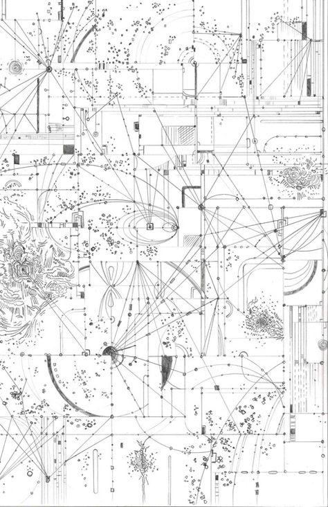 entry from paper architecture Strange Attractors by Robert Saywitz.Strange Attractors by Robert Saywitz. Paper Architecture, Architecture Drawings, Geometry Art, Sacred Geometry, Graphic Score, Art Graphique, Grafik Design, Constellations, Illustration Art