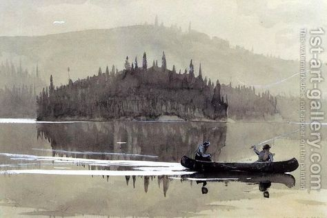 A Girl in a Punt  by Winslow Homer  Giclee Canvas Print Repro