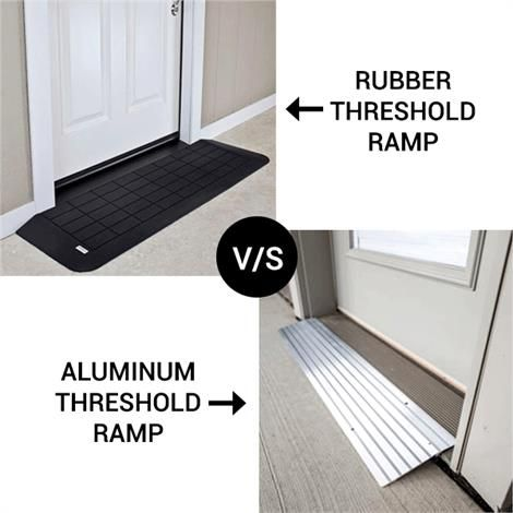 Rubber Vs Aluminum Threshold Ramp Portable Ramps In 2020 Threshold Ramp Portable Ramps Aluminum Ramp