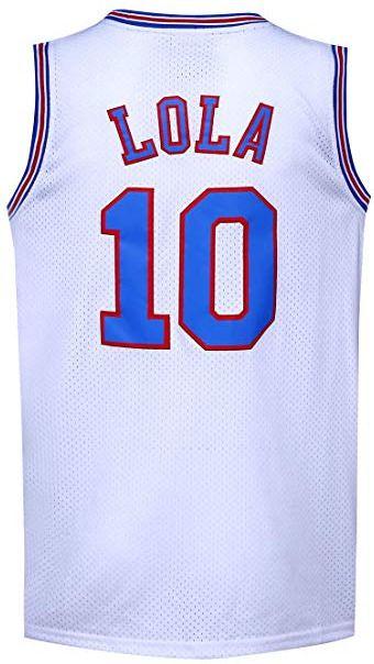 Lola Bunny Jersey 10 Blue Squad Space Jam Shirt Tune Basketball New