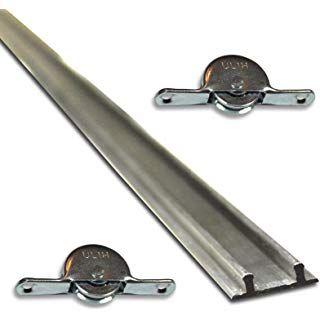 Set 1 Doppelbodenschiene 1 93m Aluminium 2 Laufrollen