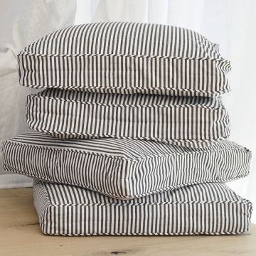 Striped Square Floor Cushions For Kate S Playroom Chaircushions Floor Cushions Pillows Floor Pillows