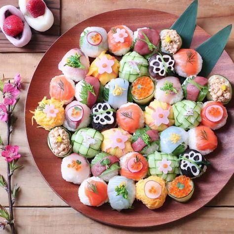 Pin on 食べ物 Pin on 食べ物 Temari Sushi, Cute Food, Yummy Food, Dessert Chef, Japanese Food Sushi, Sushi Art, Sushi Recipes, Exotic Food, Aesthetic Food