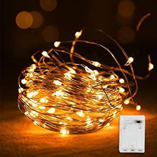 Vegena Led Lichterkette10m 100 Led Lichterketten Batteriebetrieben Kupferdraht Wasserdicht Ip44 Stimmungslichter Lichter Fu Lichterkette Led Lichterkette Und Lichterkette Batteriebetrieben