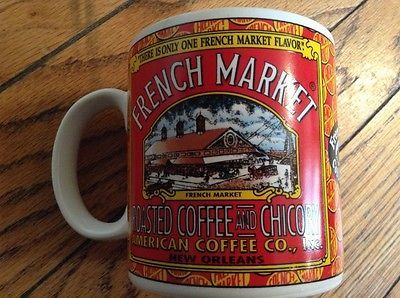 French Market Coffee Chicory Mug American Co New Orleans