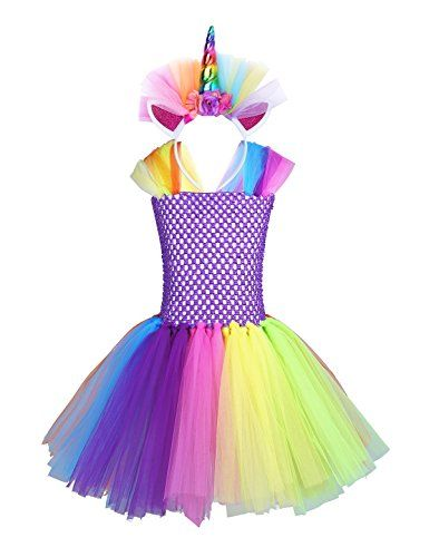 Freebily Girls Cartoon Skirt And Headband Cosplay Costume Halloween Party Outfits Colorful 2 3 Best Ha Halloween Party Outfits Cowgirl Costume Princess Outfits