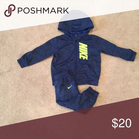 Nike Baby Dri Fit Tracksuit This navy blue marl tracksuit by Nike is not  only great for relaxing in but is just right for sporty boys too 2a08fca1c32