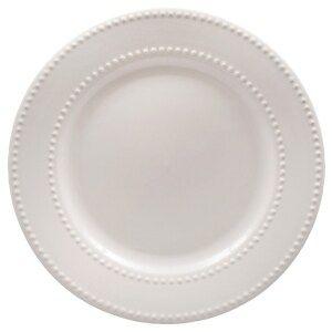 Royal Norfolk Ceramic White Beaded Dinner Plates 10 5 In Plates