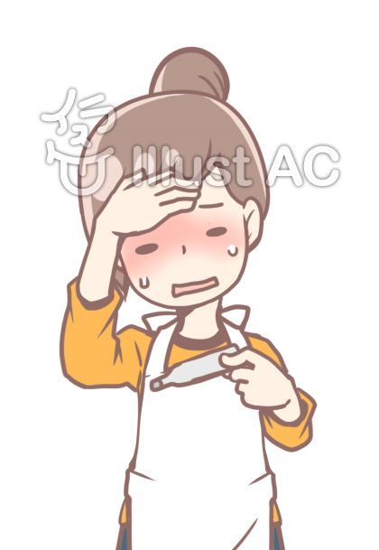 発熱エプロンお団子ヘア女性イラスト No 2146410 無料イラストなら イラストac コミックアート 女性 イラスト イラスト
