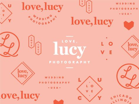 More snippets from the Love, Lucy branding, created a few months back. I loved how versatile the client let me be when designing different brand elements. Also, how fun is the color palette? Brand Identity Design, Corporate Design, Graphic Design Typography, Brand Design, Photography Packaging, Photography Logos, Jewelry Photography, Lettering, Typography Logo