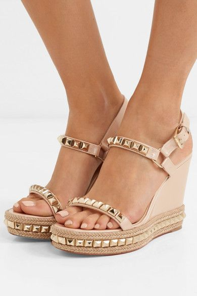 Leather wedge sandals, Louboutin wedges