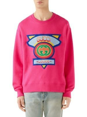 classic chic run shoes modern style GUCCI Gucci Loved Embroidery Sweatshirt. #gucci #cloth ...