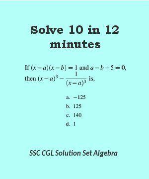 Ssc Cgl Level Solution Set 10 Algebra Algebra This Or That