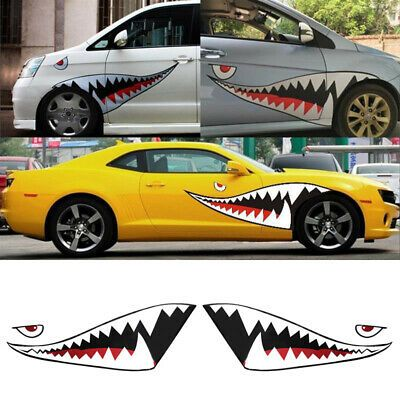 Sponsored Ebay 59 Shark Mouth Tooth Sticker Vinyl Exterior