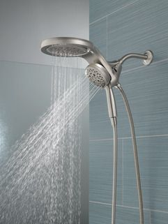 Hydrorain H2okinetic 5 Setting Two In One Shower Head 58680 Ss25 Delta Faucets Bathroom Shower Faucets Shower Fixtures Delta shower head and faucet
