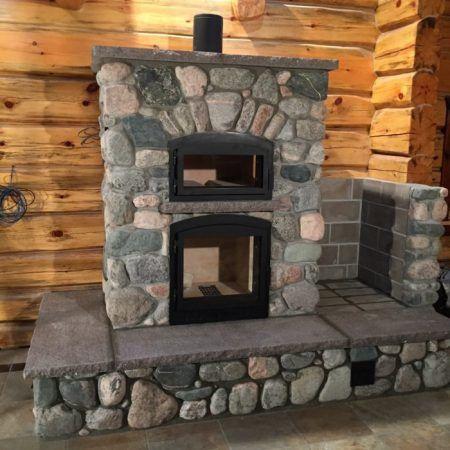 Masonry Heater With Images Masonry Masonry Fireplace Heater