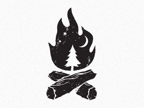 28 Ideas for tree illustration design inspiration negative space Camping Drawing, Camp Logo, Negative Space Logos, Arte Tribal, Desenho Tattoo, Tree Illustration, Travel Logo, Grafik Design, Boy Scouts