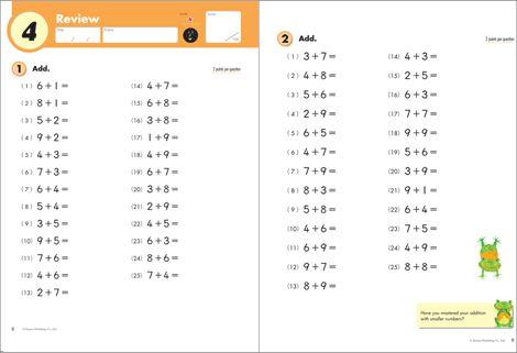 Grade 2 Addition Inside Kumon Math Kumon Kindergarten Worksheets Printable