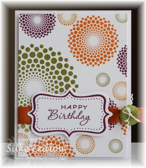 Fun birthday card by Silke Ledlow, Papertrey Ink Cards (Mar'13) #PTI, #colors