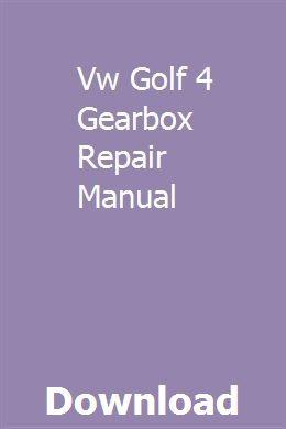Vw golf mk4 service manual pdf.