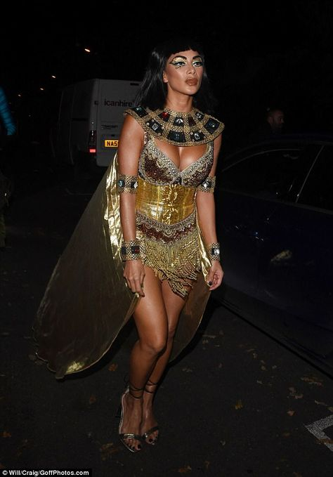 Queen of the Nile: Singer Nicole Scherzinger, showed off her amazing figure as Cleopatra for Jonathan Ross' Halloween bash on Tuesday night