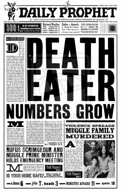 photograph about Harry Potter Daily Prophet Printable referred to as Our Harry Potter occasion toss down Harry potter inside 2019