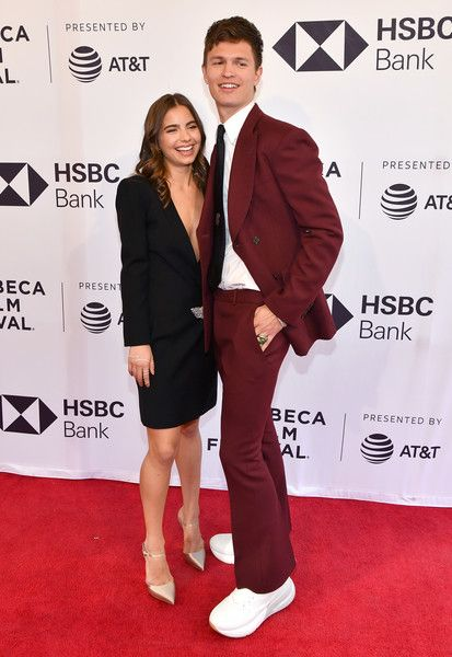 Ansel Elgort and Violetta Komyshan attend a screening of 'Jonathan' during the 2018 Tribeca Film Festival.