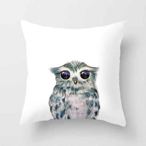 owl blanket throw pillow