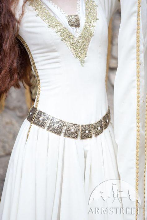 "Brass Women's Etched Belt ""The Accolade""   Velvet wedding"