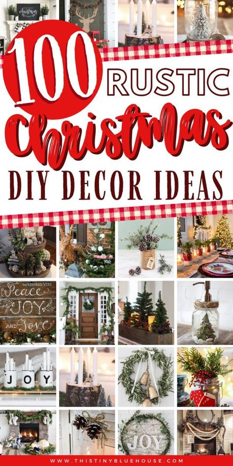 Add a touch of rustic cozy to the inside and outside of your home with these stunning DIY rustic Christmas decor ideas. Care Skin Condition and Treatment Oil Makeup Decoration Christmas, Christmas Porch, Burlap Christmas, Christmas Mantels, Country Christmas, Xmas Decorations, Simple Christmas, Christmas Holidays, Christmas Wreaths