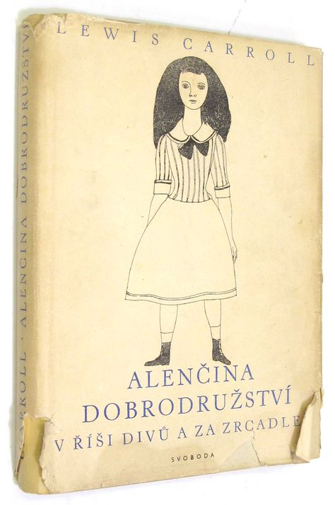 Alice's Adventures in Wonderland (and Through the Looking Glass). Year: #1949. Country: #Czechoslovakia #Czech Republic. Illustrations: Dagmar Berková. Additional Info: Svoboda, Praha. #vintage #book #cover #art