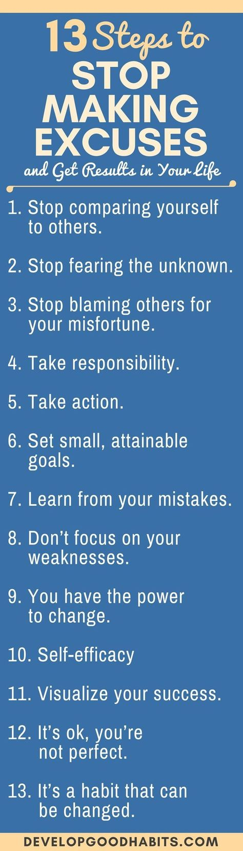 13 Steps to Stop Making Excuses and Take Responsibility