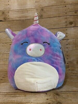 Squishmallow Aurora The Unicorn Tie Dye Pink Purple 14 Inch Kellytoys New Ebay Kellytoy Squishmallows A Animal Pillows Pets For Sale Cute Stuffed Animals