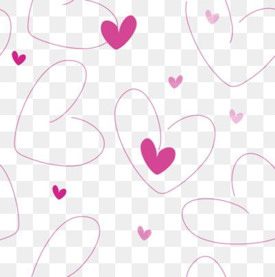 Pink Heart Shape Romantic Heart Shape Heart Shaped Line Valentines Day Png And Vector Pink Flowers Background Pink Heart Valentines Day Background