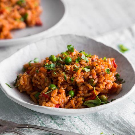 Djuvec-Reis mit frischem Gemüse