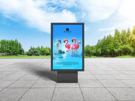 City Park Billboard Poster Design PSD Mockup Download   DesignHooks