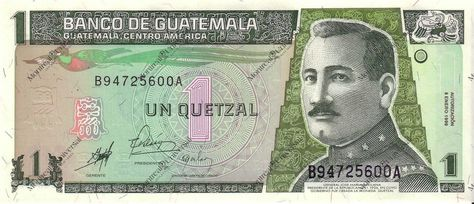 Guatemalan Currency Is The Quetzal And Is Worth About 14 Dollars Compared To A Us Dollar City Flags Guatemala Rare Birds