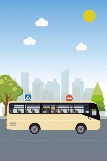 Bus City Travel Driver Bus City Travel Illustration Image On