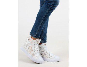 ORIGINAL MARINES Sneakers alte con zeppa interna e ricami