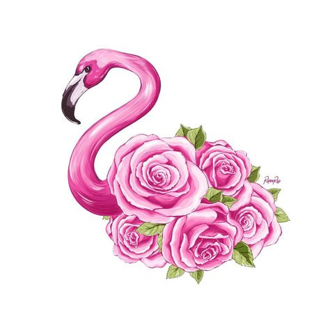#illustrator #illustration #fashionillustration #fashion #flowers #roses #rosesflowers #pinkroses #flamingo #flamingoflowers #pinkflamingo…