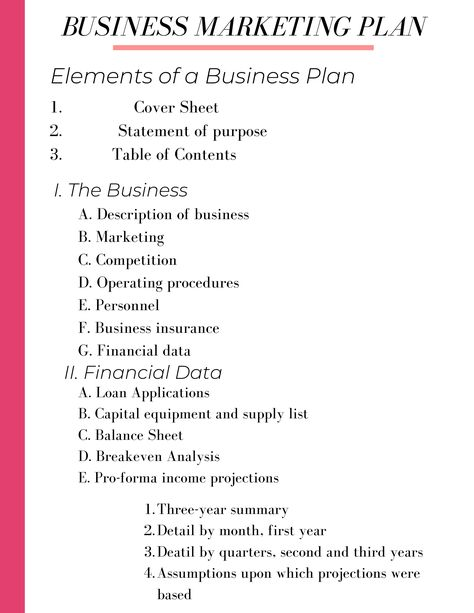 Create Your Business Plan Template