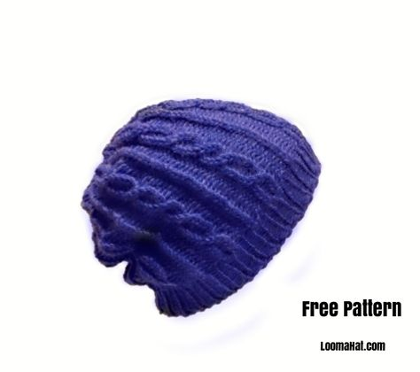 Free Loom Knit Hat Pattern For Men Loom Knitting Pinterest