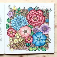 Finished 5th Page From World Of Flowers Johannabasford