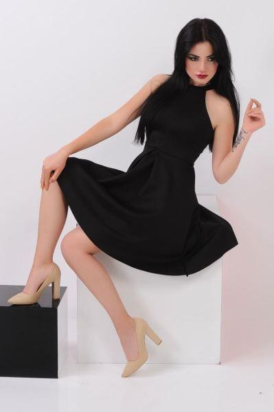 Elbise Halka Yaka Siyah Elbise Moda Magaza Fashion Sik Dugun Kiz Elbise Genc Abiye Tesettur Kisa Kombin Ham Elbise Modelleri Elbise Siyah Elbise