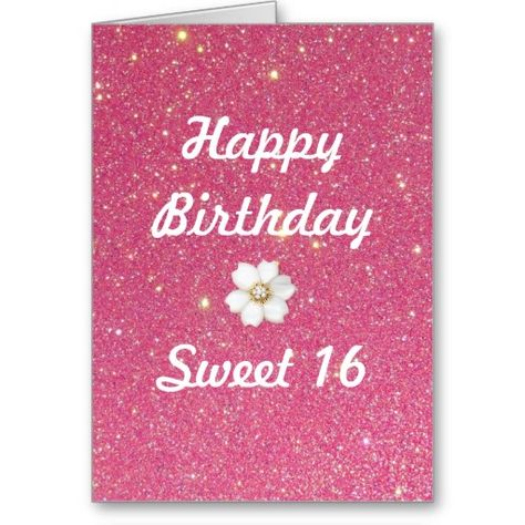 Sweet 16 Birthday Card Card Making Pinterest Sweet 16 Birthday