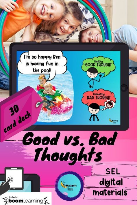Social-Emotional Learning: Good vs. Bad Thoughts {Digital Teaching Materials}
